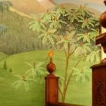 Landscape mural, cardinal