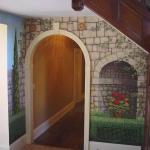 Landscape mural, foyer