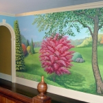 Landscape mural, 2nd floor