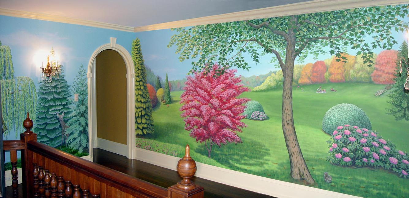 Landscape Mural In Foyer