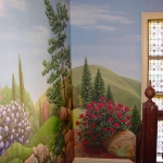 Landscape mural, landing