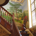 Landscape mural, looking upstairs